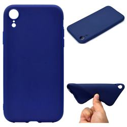 Candy Soft TPU Back Cover for iPhone Xr (6.1 inch) - Blue