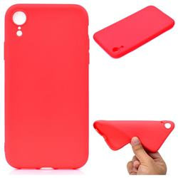 Candy Soft TPU Back Cover for iPhone Xr (6.1 inch) - Red