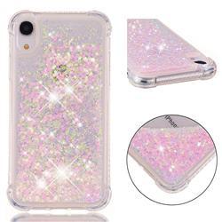 Dynamic Liquid Glitter Sand Quicksand TPU Case for iPhone Xr (6.1 inch) - Silver Powder Star