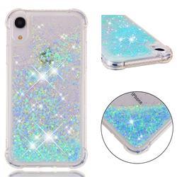 Dynamic Liquid Glitter Sand Quicksand TPU Case for iPhone Xr (6.1 inch) - Silver Blue Star