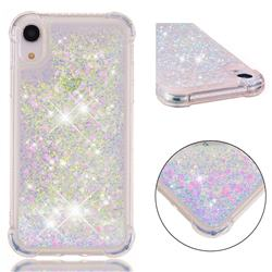 Dynamic Liquid Glitter Sand Quicksand Star TPU Case for iPhone Xr (6.1 inch) - Pink