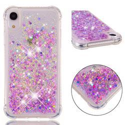 Dynamic Liquid Glitter Sand Quicksand Star TPU Case for iPhone Xr (6.1 inch) - Rose