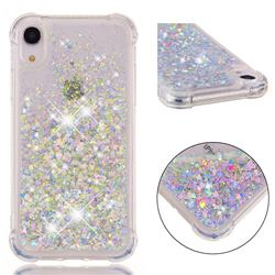 Dynamic Liquid Glitter Sand Quicksand Star TPU Case for iPhone Xr (6.1 inch) - Silver