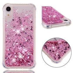 Dynamic Liquid Glitter Sand Quicksand Star TPU Case for iPhone Xr (6.1 inch) - Diamond Rose
