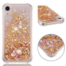 Dynamic Liquid Glitter Sand Quicksand Star TPU Case for iPhone Xr (6.1 inch) - Diamond Gold