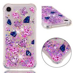 Diamond Dynamic Liquid Glitter Sand Quicksand Star TPU Case for iPhone Xr (6.1 inch)