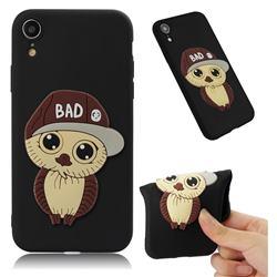 Bad Boy Owl Soft 3D Silicone Case for iPhone Xr (6.1 inch) - Black