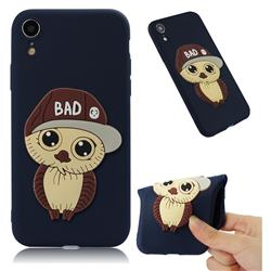 Bad Boy Owl Soft 3D Silicone Case for iPhone Xr (6.1 inch) - Navy