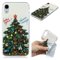 Wishing Christmas Tree Xmas Super Clear Soft TPU Back Cover for iPhone Xr (6.1 inch)