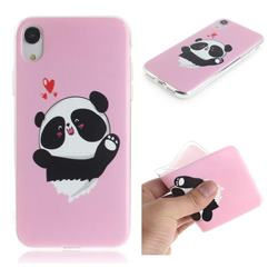 Heart Cat IMD Soft TPU Cell Phone Back Cover for iPhone Xr (6.1 inch)