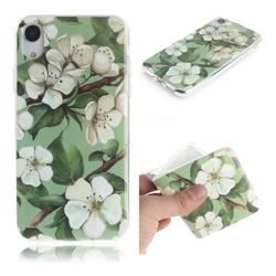 Watercolor Flower IMD Soft TPU Cell Phone Back Cover for iPhone Xr (6.1 inch)