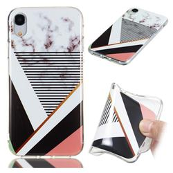 Pinstripe Soft TPU Marble Pattern Phone Case for iPhone Xr (6.1 inch)
