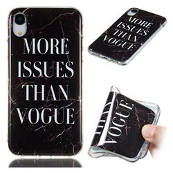 Stylish Black Soft TPU Marble Pattern Phone Case for iPhone Xr (6.1 inch)