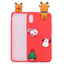 Red Elk Christmas Xmax Soft 3D Silicone Case for iPhone Xr (6.1 inch)