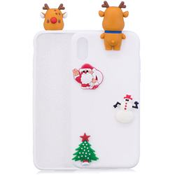 White Elk Christmas Xmax Soft 3D Silicone Case for iPhone Xr (6.1 inch)