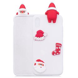 White Santa Claus Christmas Xmax Soft 3D Silicone Case for iPhone Xr (6.1 inch)