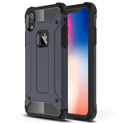 King Kong Armor Premium Shockproof Dual Layer Rugged Hard Cover for iPhone Xr (6.1 inch) - Navy