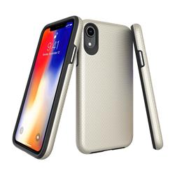 Triangle Texture Shockproof Hybrid Rugged Armor Defender Phone Case for iPhone Xr (6.1 inch) - Golden