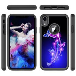 Dancing Butterflies Shock Absorbing Hybrid Defender Rugged Phone Case Cover for iPhone Xr (6.1 inch)