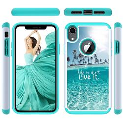 Sea and Tree Shock Absorbing Hybrid Defender Rugged Phone Case Cover for iPhone Xr (6.1 inch)
