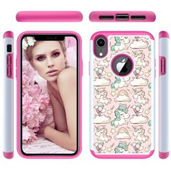 Pink Pony Shock Absorbing Hybrid Defender Rugged Phone Case Cover for iPhone Xr (6.1 inch)