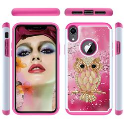 Seashell Cat Shock Absorbing Hybrid Defender Rugged Phone Case Cover for iPhone Xr (6.1 inch)
