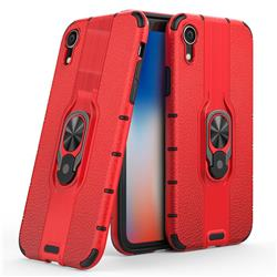 Alita Battle Angel Armor Metal Ring Grip Shockproof Dual Layer Rugged Hard Cover for iPhone Xr (6.1 inch) - Red