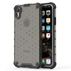 Honeycomb TPU + PC Hybrid Armor Shockproof Case Cover for iPhone Xr (6.1 inch) - Gray