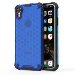 Honeycomb TPU + PC Hybrid Armor Shockproof Case Cover for iPhone Xr (6.1 inch) - Blue