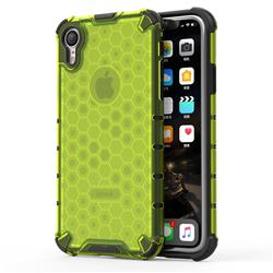 Honeycomb TPU + PC Hybrid Armor Shockproof Case Cover for iPhone Xr (6.1 inch) - Green