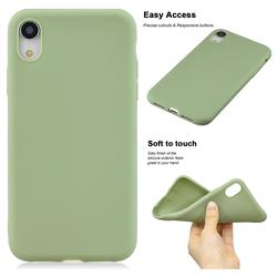 Soft Matte Silicone Phone Cover for iPhone Xr (6.1 inch) - Bean Green