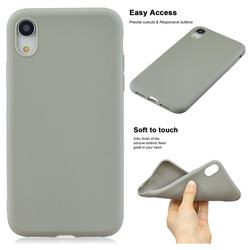 Soft Matte Silicone Phone Cover for iPhone Xr (6.1 inch) - Gray