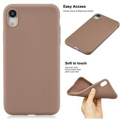Soft Matte Silicone Phone Cover for iPhone Xr (6.1 inch) - Khaki