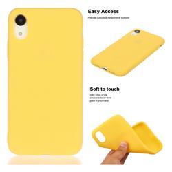 Soft Matte Silicone Phone Cover for iPhone Xr (6.1 inch) - Yellow