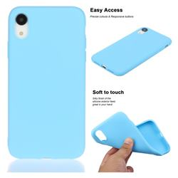 Soft Matte Silicone Phone Cover for iPhone Xr (6.1 inch) - Sky Blue