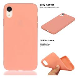 Soft Matte Silicone Phone Cover for iPhone Xr (6.1 inch) - Coral Orange