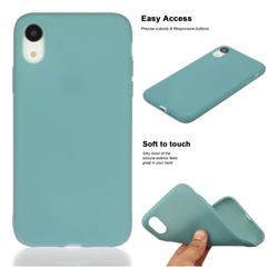 Soft Matte Silicone Phone Cover for iPhone Xr (6.1 inch) - Lake Blue