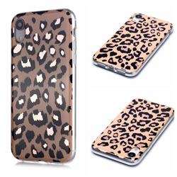 Leopard Galvanized Rose Gold Marble Phone Back Cover for iPhone Xr (6.1 inch)
