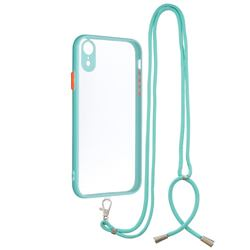 Necklace Cross-body Lanyard Strap Cord Phone Case Cover for iPhone Xr (6.1 inch) - Blue
