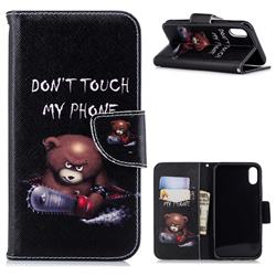 Chainsaw Bear Leather Wallet Case for iPhone Xr (6.1 inch)