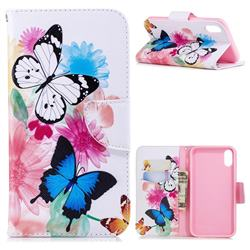 Vivid Flying Butterflies Leather Wallet Case for iPhone Xr (6.1 inch)
