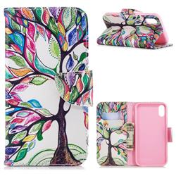 The Tree of Life Leather Wallet Case for iPhone Xr (6.1 inch)