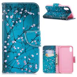 Blue Plum Leather Wallet Case for iPhone Xr (6.1 inch)