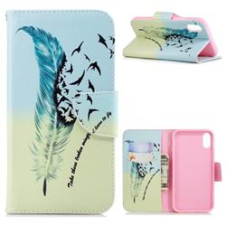 Feather Bird Leather Wallet Case for iPhone Xr (6.1 inch)