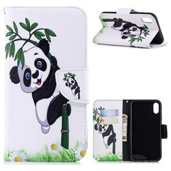 Bamboo Panda Leather Wallet Case for iPhone Xr (6.1 inch)
