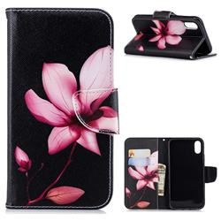 Lotus Flower Leather Wallet Case for iPhone Xr (6.1 inch)