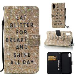 Shine All Day 3D Painted Leather Wallet Case for iPhone Xr (6.1 inch)