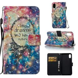 Do Have Dreams 3D Painted Leather Wallet Case for iPhone Xr (6.1 inch)