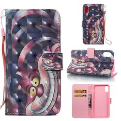 Monster 3D Painted Leather Wallet Case for iPhone Xr (6.1 inch)