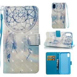 Fantasy Campanula 3D Painted Leather Wallet Case for iPhone Xr (6.1 inch)